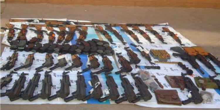 Weapons recovered by Mexican