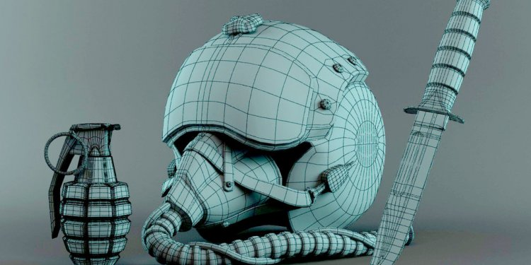 3D Military Stuff-Pilot Helmet