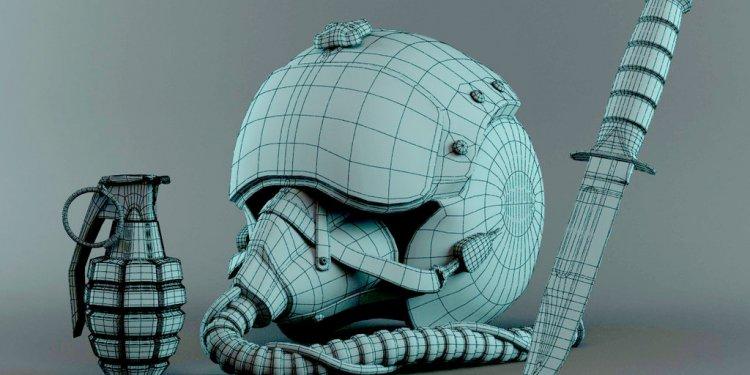 3D Military Stuff-Pilot Helmet