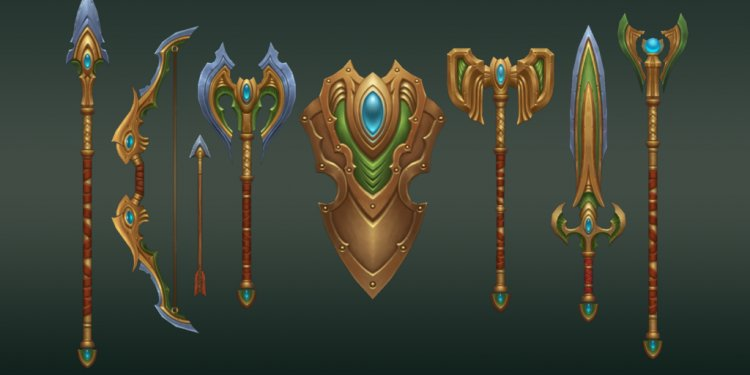 Elven Weapons by ManaStation