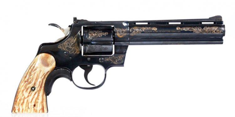 This engraved Colt Python 357