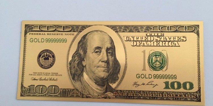 10pcs Medal 24k USA 100 Dollar