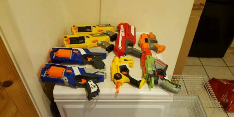 Nerf guns collection