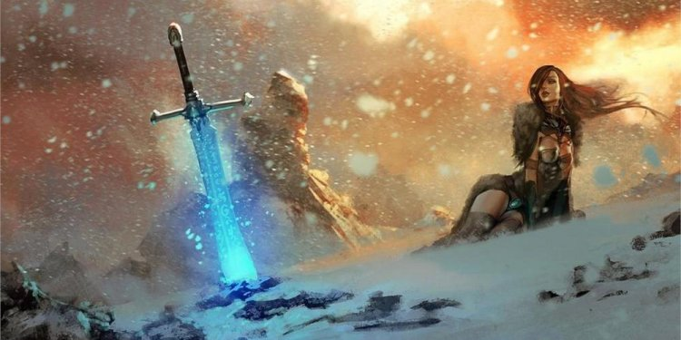 Video games swords fantasy art