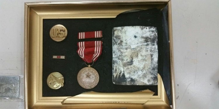 World War II items found on