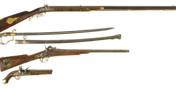 Three Antique Firearms and