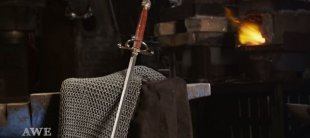 Arya's Needle sword replica forged by Man at Arms