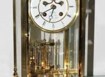 Franklin Mint Liberty brass mantel clock