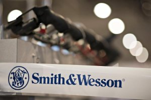 Shares of Smith & Wesson Holding Corp., which makes an array of pistols and revolvers, rose nearly 7% Monday.